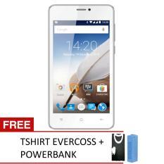 Beli Evercoss A65B Winner X3 8Gb Putih Free Tshirt Powerbank Evercoss Terbaru