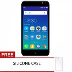 Evercoss A75B Max Face Unlock - 1GB/8GB - Black + Gratis Silicon Case