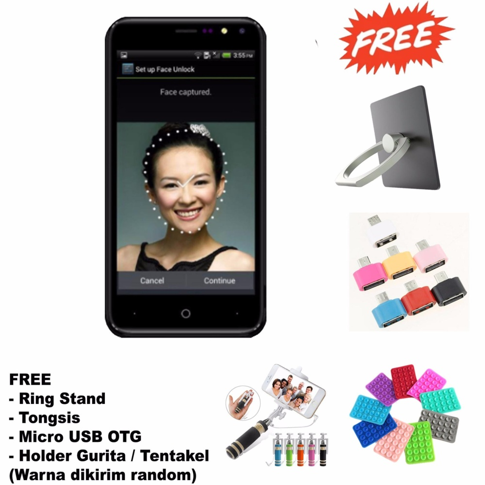 Diskon Evercoss M50 4G Lte Android V7 Nougat Free 4 Item Accessories Black Evercoss Di Indonesia