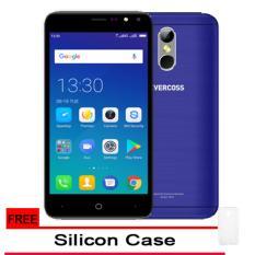 Evercoss M50 4G Lte Finger Print - Ram 1GB/8GB - Biru + Gratis SIlicon Case Original
