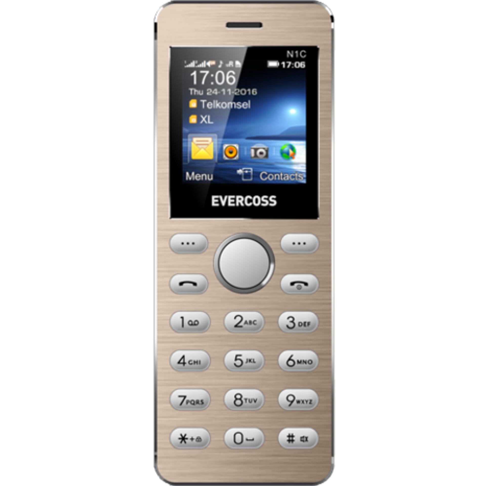 Handphone Evercoss Terlaris Murah Winner Y3 B75a 8gb Gold N1c Dual Sim Mini Phone
