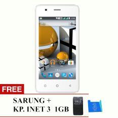 Evercoss Winner T M40 - koneksi 4G TERMURAH SE INDONESIA - RAM 1GB + Free Sarung & Starter Pack 3 1GB