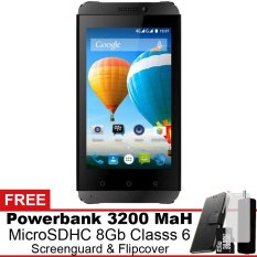 Evercoss Winner T3 4G Lte 8 Gb Hitam Gratis Powerbank Micro Sdhc 8Gb Screenguard Flipcover Evercoss Diskon