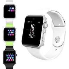 Evershop Bluetooth SmartWatch 2.5D ARC HD Layar Penopang SIM Kartu Wearable Perangkat Smartphone Kebugaran Tracker untuk IOS Android (Putih) -Intl