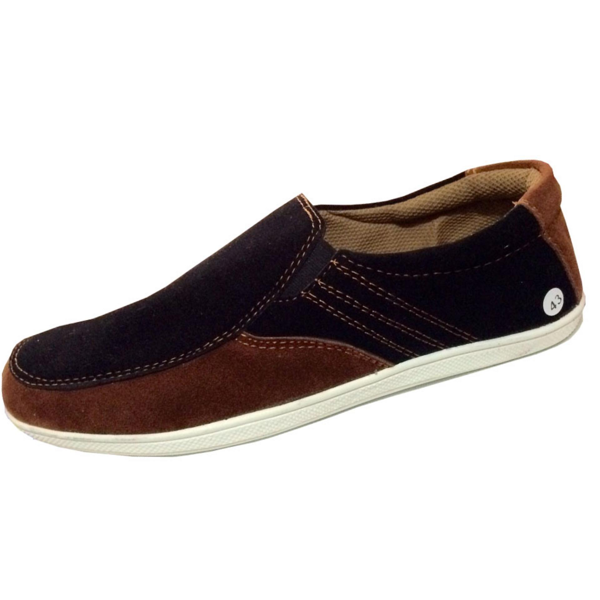EWN Sepatu Slip On Casual Pria   Sepatu Pria   Sepatu Kasual Pria -  HitamIDR79900. ce4cfdf187