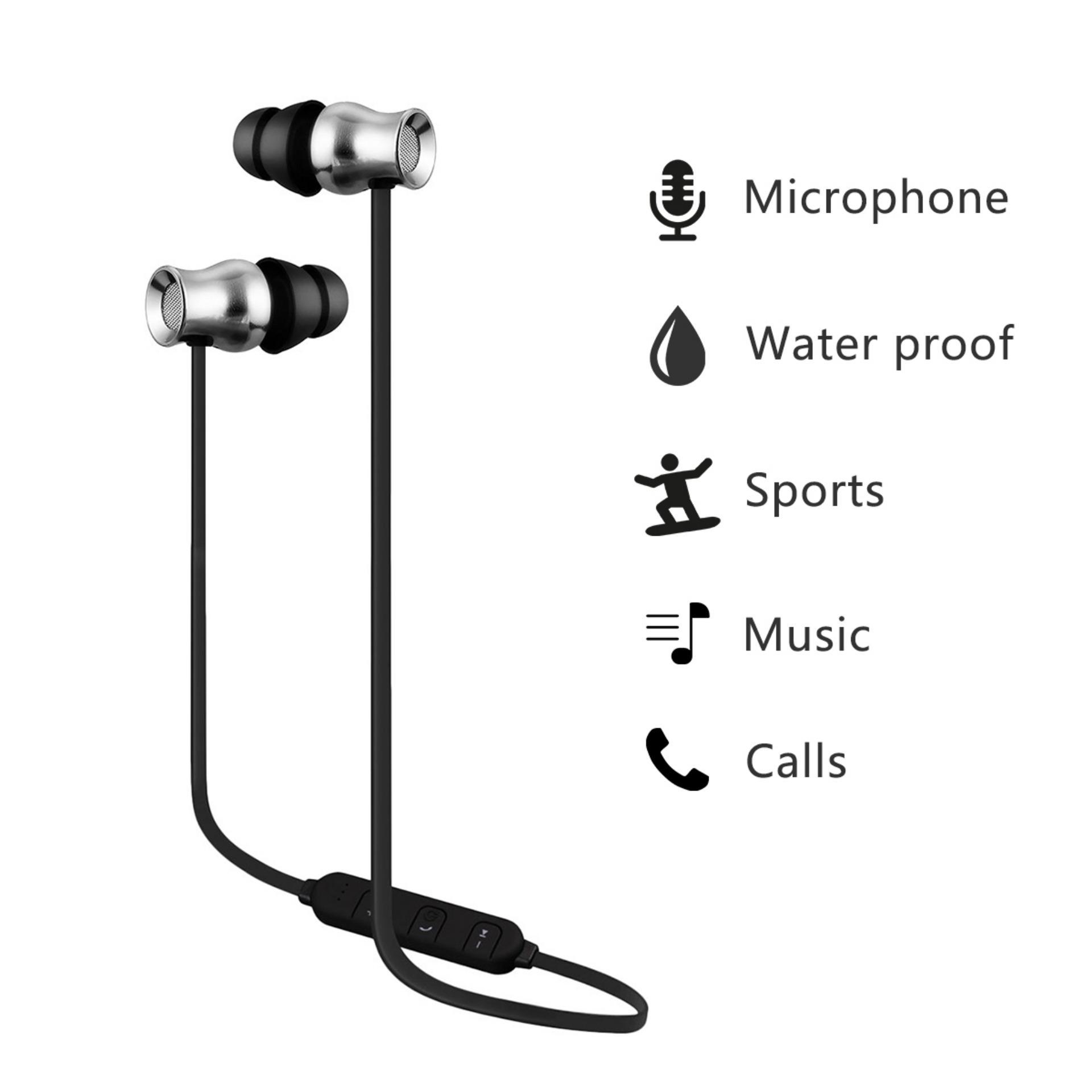 Jual Excelvan Bth 829 Bluetooth V4 1 Kebisingan Membatalkan In Ear Headphone Dengan Mikrofon Hitam Abu Abu Online Tiongkok