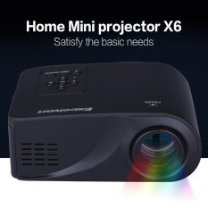 Harga Excelvan X6 Mini Projector Hdmi Usb Av Vga Sd Interface 2 4 Inch Lcd Black Intl Lengkap