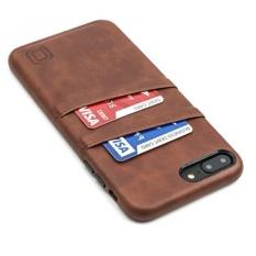 Exec IPhone 8 Plus dan 7 Plus Card Case Oleh Dockem-minimalis Kasus Dompet Kulit Sintetis, Ultra Slim Professional Executive Snap On Cover dengan 2 Slot Pemegang Kartu, Brown-Intl