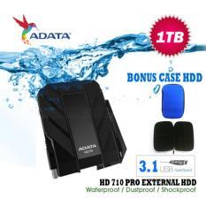 External Hdd 1Tb Usb 3.1 Adata 710 Pro Bukan Yang BIasa Antishock / Waterproof / Dustproof / Ext HDD Adata HD710 Pro / Hardisk External - HItam + Gratis Case Hdd