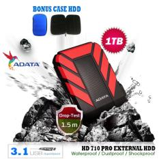 External Hdd 1Tb Usb 3.1 Adata HD710 Pro Bukan Yang Biasa / Antishock / Waterproof / Dustproof/ Ext HDD Adata 710 Pro / Hardisk External - Merah + Gratis Case Hdd