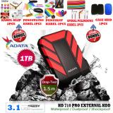 Promo External Hdd 1Tb Usb 3 1 Adata Hd710 Pro Bukan Yang Biasa Antishock Waterproof Dustproof Ext Hdd Adata 710 Pro Hdd Ext Merah Gratis Case Hdd 1Pcs Klip Kabel 2Pcs Penggulung Kabel 2Pcs Pengikat Kabel 2Pcs Spiral Pelindung Kabel 2Pcs