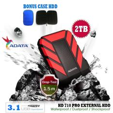 External Hdd 2Tb Usb 3.1 Adata HD710 Pro Bukan Yang Biasa Antishock / Waterproof / Dustproof / Ext HDD Adata 710 Pro / Hardisk External - Merah + Gratis Case Hdd