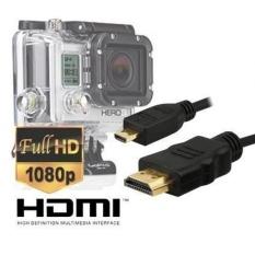 Ekstra Panjang 10 Kaki Mikro HDMI Kabel Video HD untuk GoPro Hero3, Hero3 +, hero4 Edisi Hitam dan Perak Edition Kamera -- Version dengan Kabel Master-Internasional
