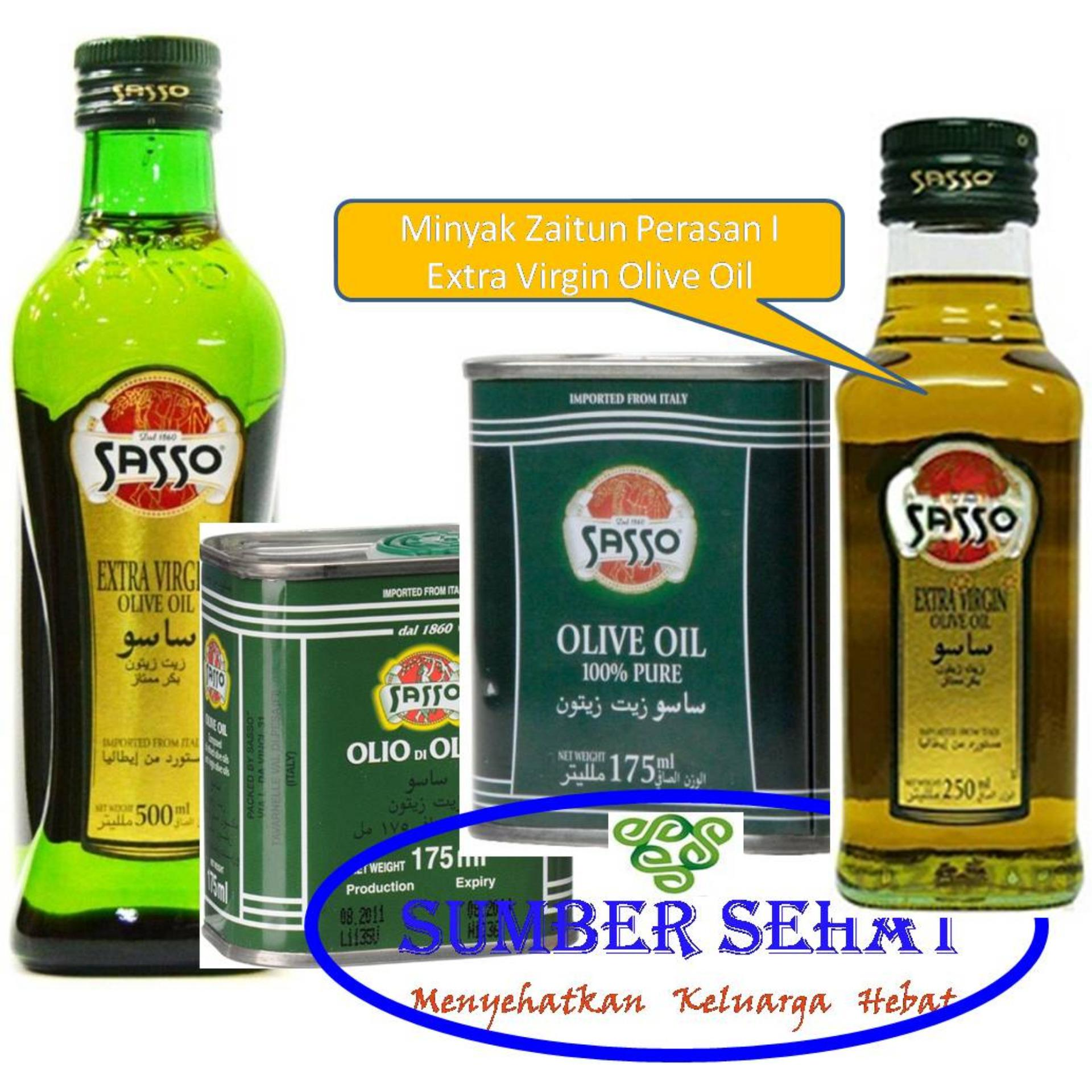 Review Extra Virgin Olive Oil Sasso 250 Ml Original Indonesia