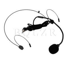 Harga Ey 528B 3 5Mm L Type Plug Headset Microphones Black Fullset Murah