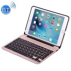 Jual F04 Untuk Ipad Mini 4 Portable Foldable Aluminium Alloy Wireless Bluetooth Backlight Keyboard Rose Emas Intl Online