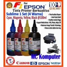 F1 Ink Sublime Epson 1set (4warna) @100ml