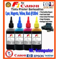 Jual F1 Ink Untuk Printer Canon 100Ml Cyan Magenta Yellow Black 1 Set F1 Online