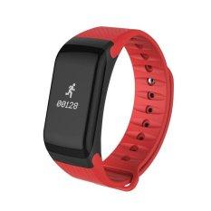Spesifikasi F1 Gelang Heart Rate Monitor Smart Jam Tekanan Darah Darah Oksigen Pelacak Olahraga Pengingat Smart Gelang Untuk Ios Dan Android Intl Murah