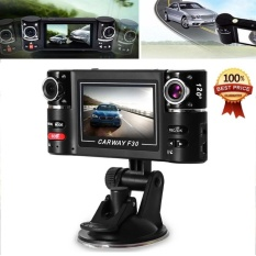 F30 Car DVR Kamera Video Perekam Mengemudi 2.7 Inch HD Dual LensDashboard Kendaraan Camcorder-Intl