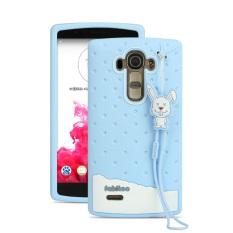 Fabitoo Cute Ice Cream Silicone Back Cover Case untuk LG G4 dengan Lanyard-Warna Biru