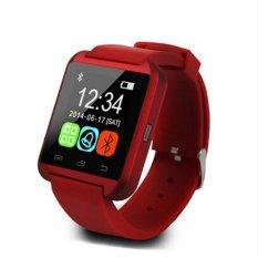 Pabrik Langsung Harga U8 Bluetooth Smart Watch Touch Screen untuk Android dan IOS (Merah)-Intl