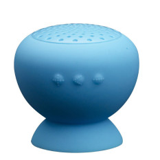 Cuci Gudang Fang Fang Sunbeauty Waterproof Mini Mushroom Wireless Bluetooth Speaker Blue