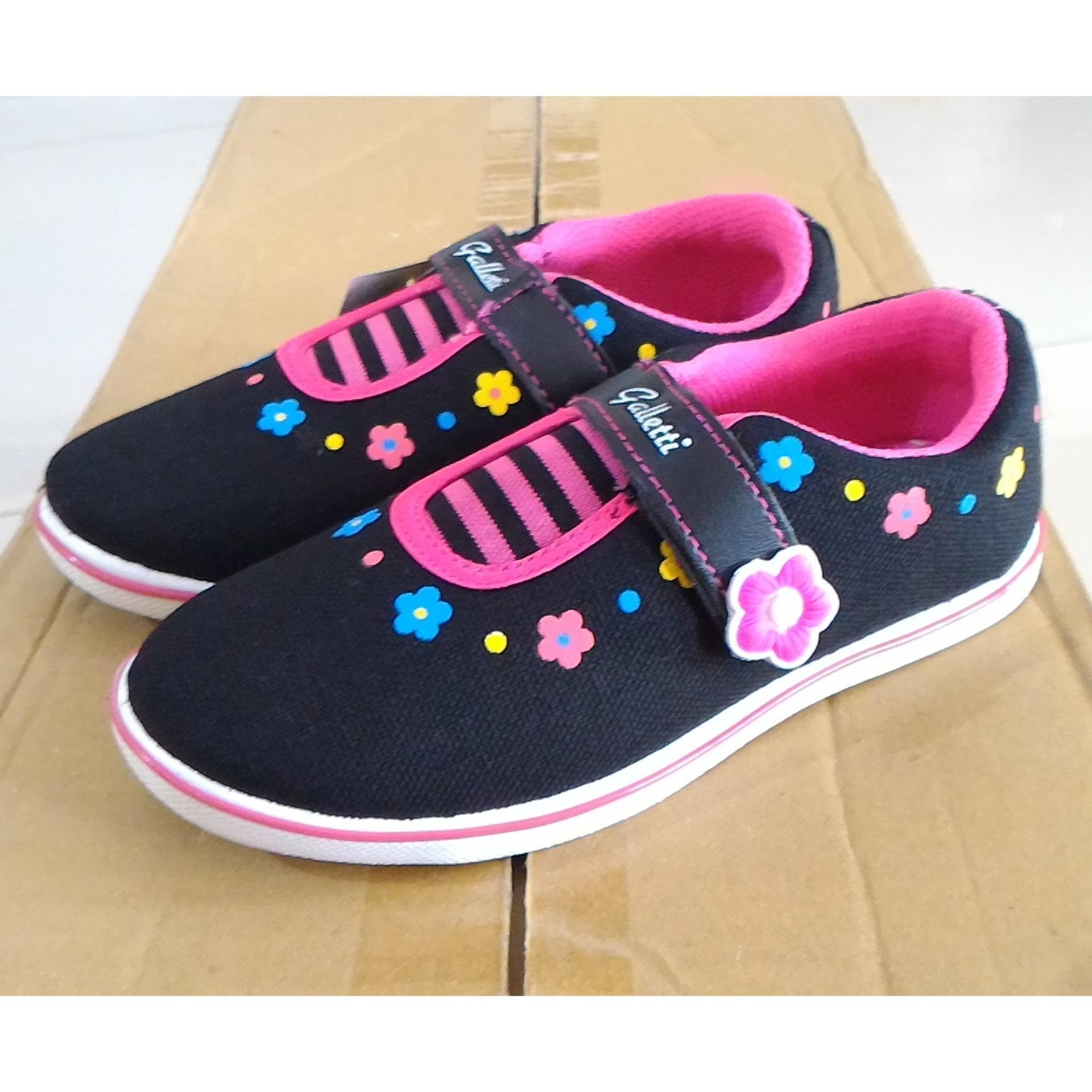 Spesifikasi Fanie Shoes Galletti Sepatu Sekolah Hitam Anak Perempuan Cantik Murah Fashion