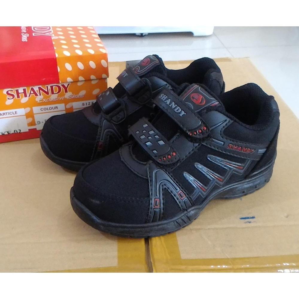 Fanie Shoes - Shandy KF02 sepatu sekolah anak laki hitam murah