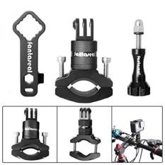 Fantaseal Action Camera Bike Mount Kit untuk GoPro Bike Mount 360 Derajat Rotary Bicycle Handlebar Mount Clamp Aluminium Alloy Bike Rack Handlebar Mount Holder Kutub Mount Adapter untuk GoPro Garmin SJCAM-Intl
