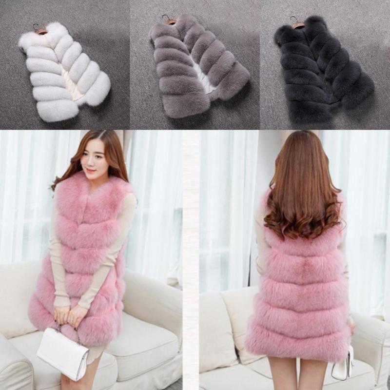 Jual Fantastis Bunga Hot Sale Kaus Fesyen Buatan Fox Fur Vest Wanita Musim Dingin Hangat Asli Fox Mantel Bulu Hangat Bulu Alam Coat Jaket Bulu Pink M Intl Branded