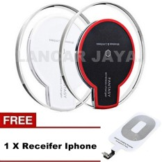 Fantasy Qi Wireless Charger Charging Pad Iphone 5 5S Se 5C 6 Black White Gratis Receiver For Iphone Murah
