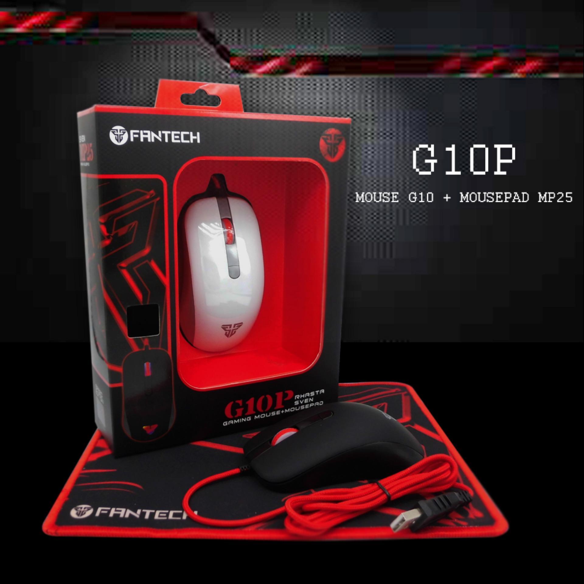 Fantech G10P RHASTA SVEN Mouse gaming + Mousepad Hitam