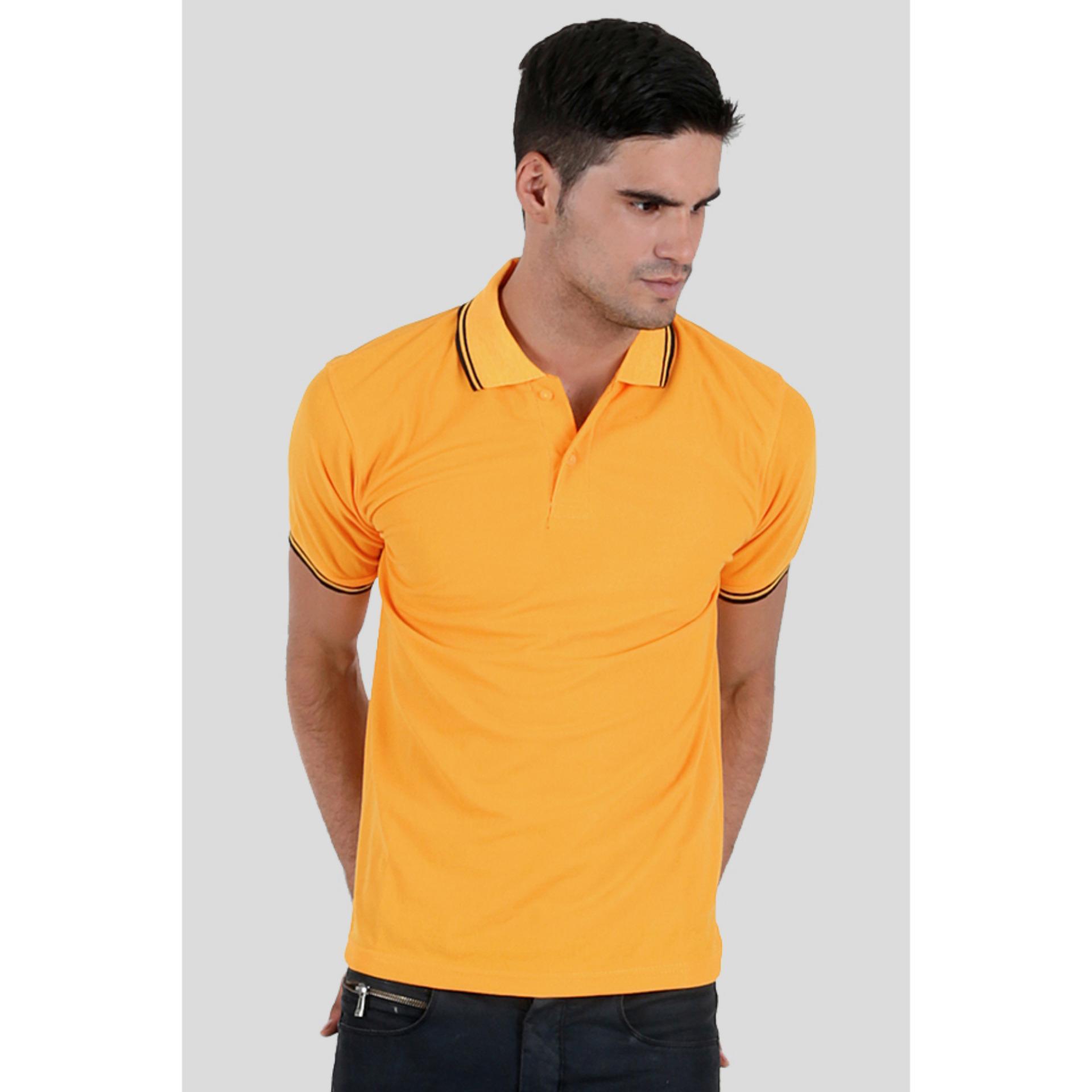 Harga Faseno Kaos Berkerah Polo Shirt Pria Lengan Pendek Kuning Tua Original