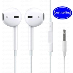 Fashion 3 5 Mm Premium Earphone W Mic Remote And Carrying Case For Smart Phones Android Tablet And Other Compatible Devices White Intl Oem Diskon