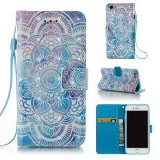 Fashion 3D Pelindung Berdiri Dompet Dompet Kartu Kredit Pemegang Magnetic Flip Folio TPU Soft Bumper PU Leather Ultra Slim Fit Case Cover untuk Apple IPhone 6 Plus/6 S Plus-Intl