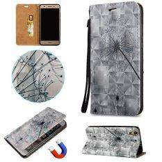 Fashion 3D Pelindung Berdiri Dompet Dompet Kartu Kredit Pemegang Magnetic Flip Folio TPU Soft Bumper PU Leather Ultra Slim Fit Case Cover untuk Huawei Honor 5A/Y6II Y6 2/Holly 3-Intl