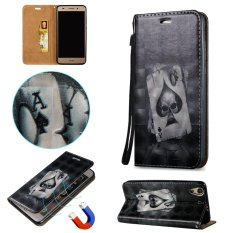 Fashion 3D Protective Stand Wallet Purse Credit Card ID Holders Magnetic Flip Folio TPU Soft Bumper PU Leather Ultra Slim Fit Case Cover for Huawei Honor 5A / Y6II Y6 2 / Holly 3 - intl