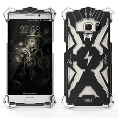 Fashion Aluminum Metal Thor Back Case for Samsung Galaxy S7 Edge(black) - intl