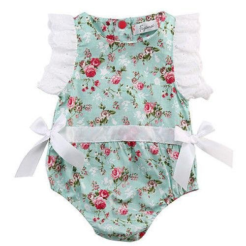 Tips Beli Fashion Bayi Gadis One Pieces Renda Baju Monyet Floral Butterfly Lengan Jumpsuit Pakaian Sunsuit Pakaian Intl Yang Bagus