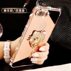Fashion Bling Bumper Logam dan Cermin PC Belakang Sampul Case untuk ZTE Blade V7 Maksimal-Internasional
