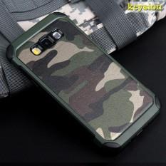Modis Camo Telepon Case untuk Samsung Galaksi E5 E500 Plastik dan Tpu Keras Sarung Kamuflase Gaya Pelindung Pelindung E500H E500F cangkang-Internasional