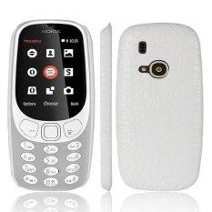 Fashion Pola Buaya Kulit Hard Back Cover untuk Nokia 3310-Intl