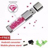 Review Fashion Crystal Usb Flash Drive 1 Tb U Disk Kecepatan Tinggi Usb2 Pen Drive Untuk Hadiah Kreatif Android Converter Pink Intl Terbaru