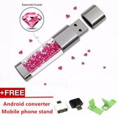Fashion Crystal Usb Flash Drive 1 Tb U Disk Kecepatan Tinggi Usb2 Pen Drive Untuk Hadiah Kreatif Android Converter Pink Intl Diskon Akhir Tahun