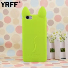 Fashion Cute Kartun 3D Koko Cat Phone Case Back Cover untuk IPhone 4 4 S Silikon Ponsel Shell- INTL