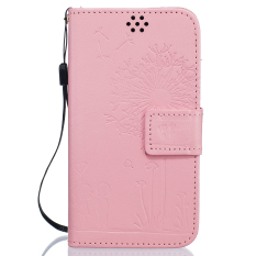 Fashion Dandelion Protective Stand Wallet Purse Credit Card ID Holders Magnetic Flip Folio TPU Soft Bumper