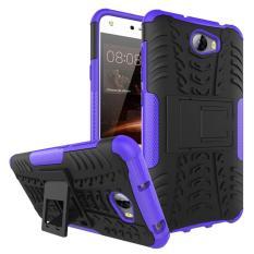 Fashion Heavy Duty Shockproof Dual Layer Hybrid Armor Pelindung Cover dengan Kickstand Case untuk Huawei Ascend Y5 II/Huawei Y5 2 Smartphone-Intl