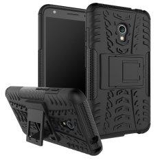 Fashion Heavy Duty Shockproof Dual Layer Hybrid Armor Pelindung Cover dengan Kickstand Kasus untuk Alcatel One Touch Flash (5.0 Inch) -Intl