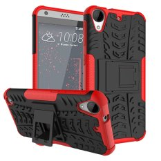 Fashion Heavy Duty Shockproof Dual Layer Hybrid Armor Protective Cover with Kickstand Case for HTC Desire 530 - intl